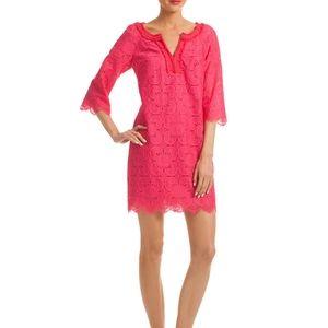 Trina Turk Jubilee Pink Lace Tunic Dress